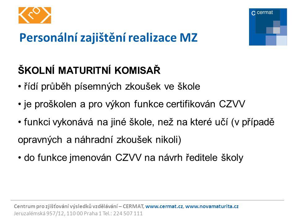Personální zajištění realizace MZ