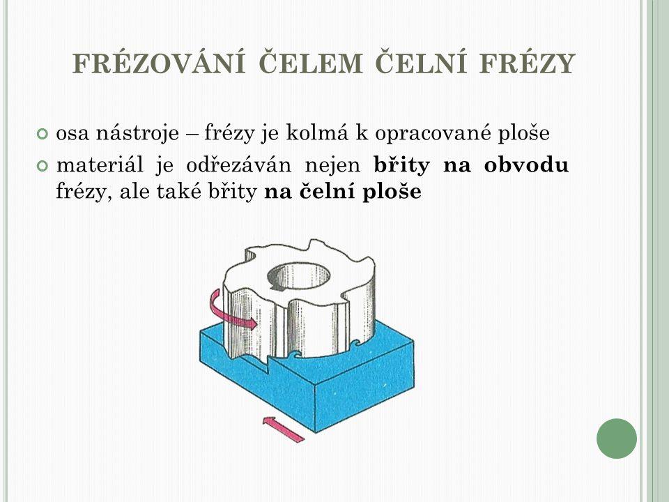 frézování čelem čelní frézy