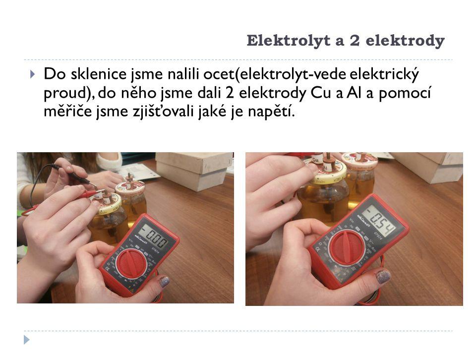 Elektrolyt a 2 elektrody