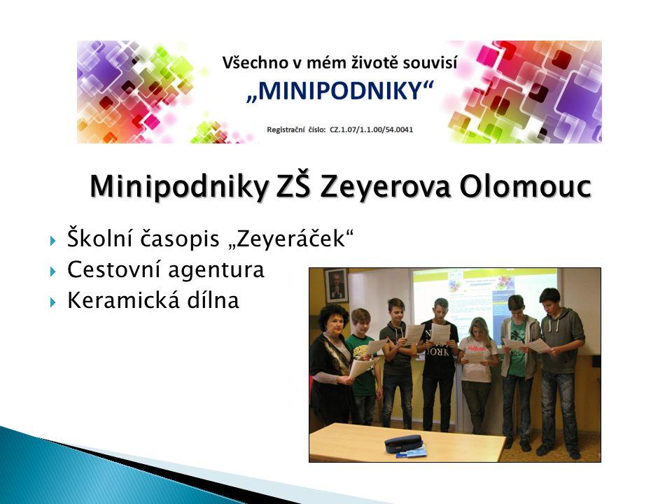 Minipodniky ZŠ Zeyerova Olomouc