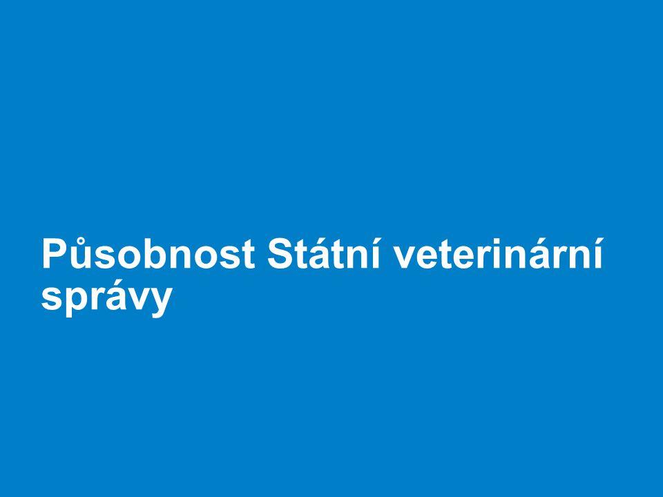 Působnost Státní veterinární správy