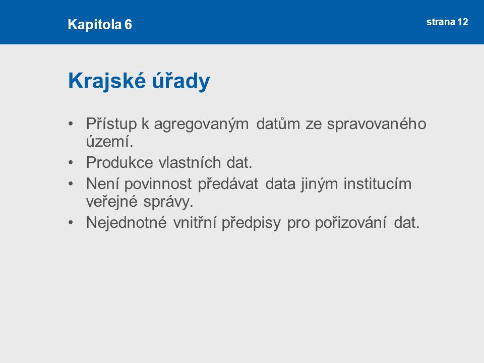 Krajské úřady Přístup k agregovaným datům ze spravovaného území.
