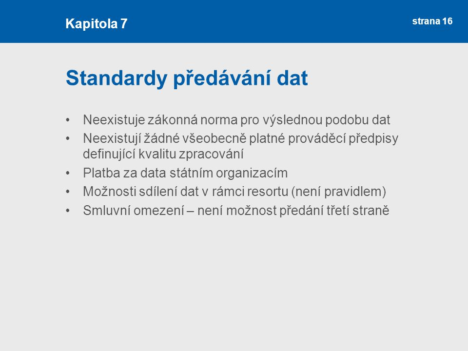 Standardy předávání dat