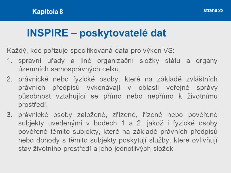 INSPIRE – poskytovatelé dat