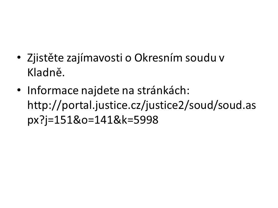 Zjistěte zajímavosti o Okresním soudu v Kladně.