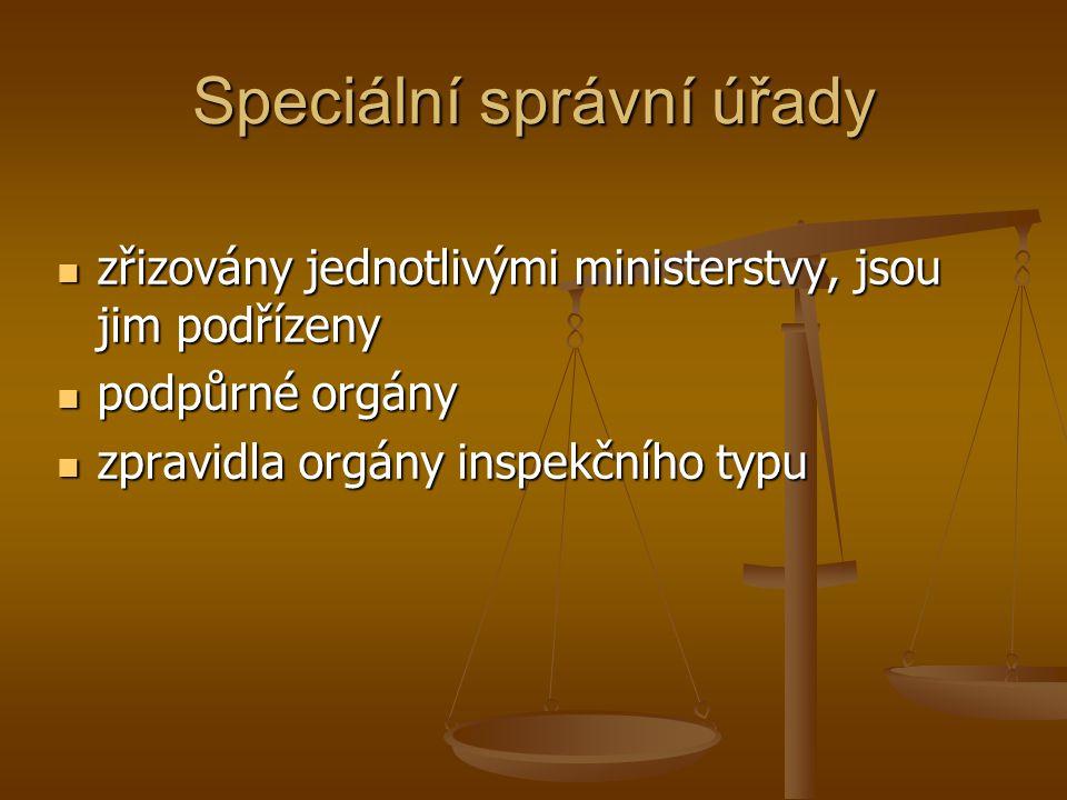 Speciální správní úřady