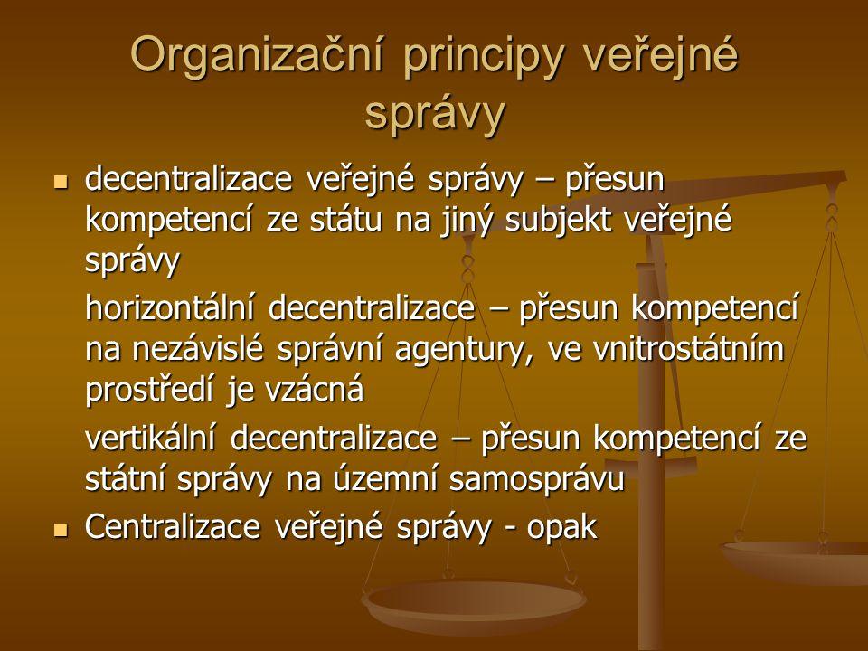 Organizační principy veřejné správy