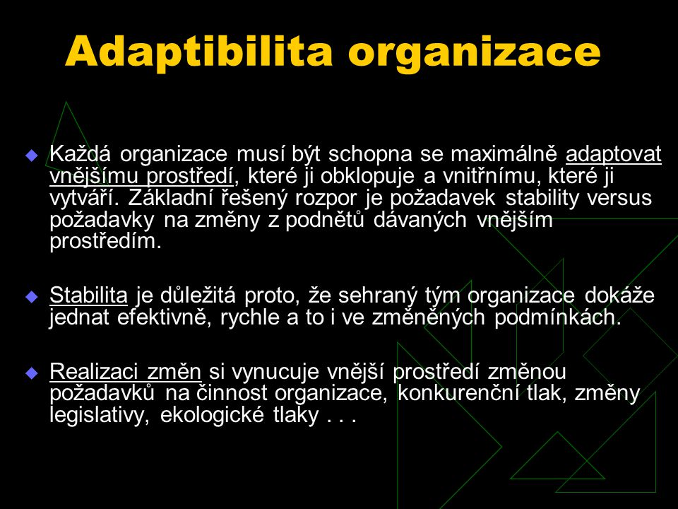 Adaptibilita organizace