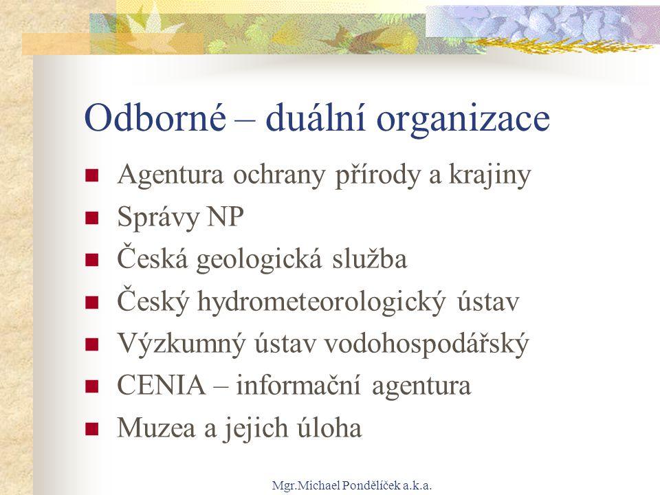 Odborné – duální organizace