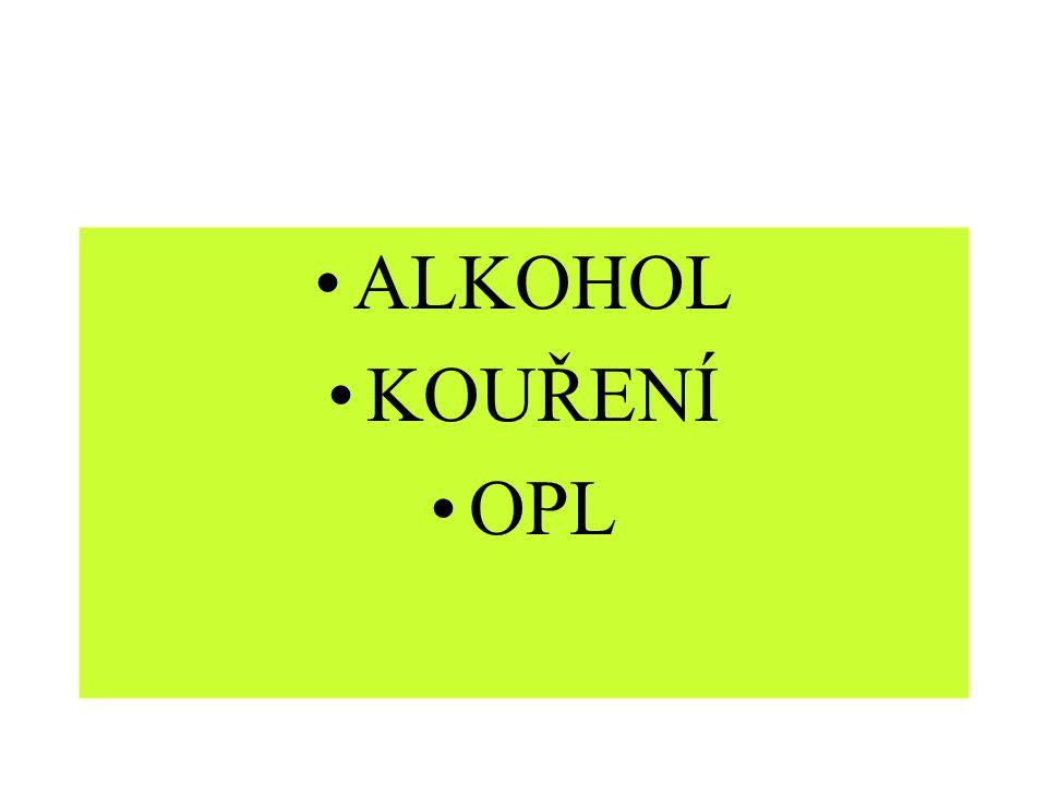 ALKOHOL KOUŘENÍ OPL