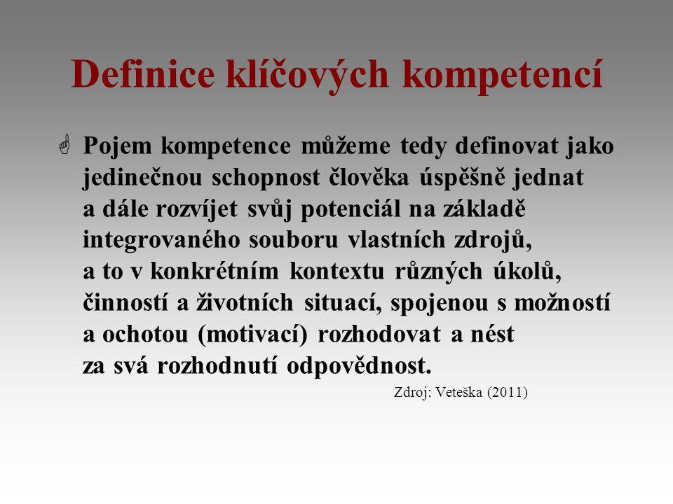 Definice klíčových kompetencí