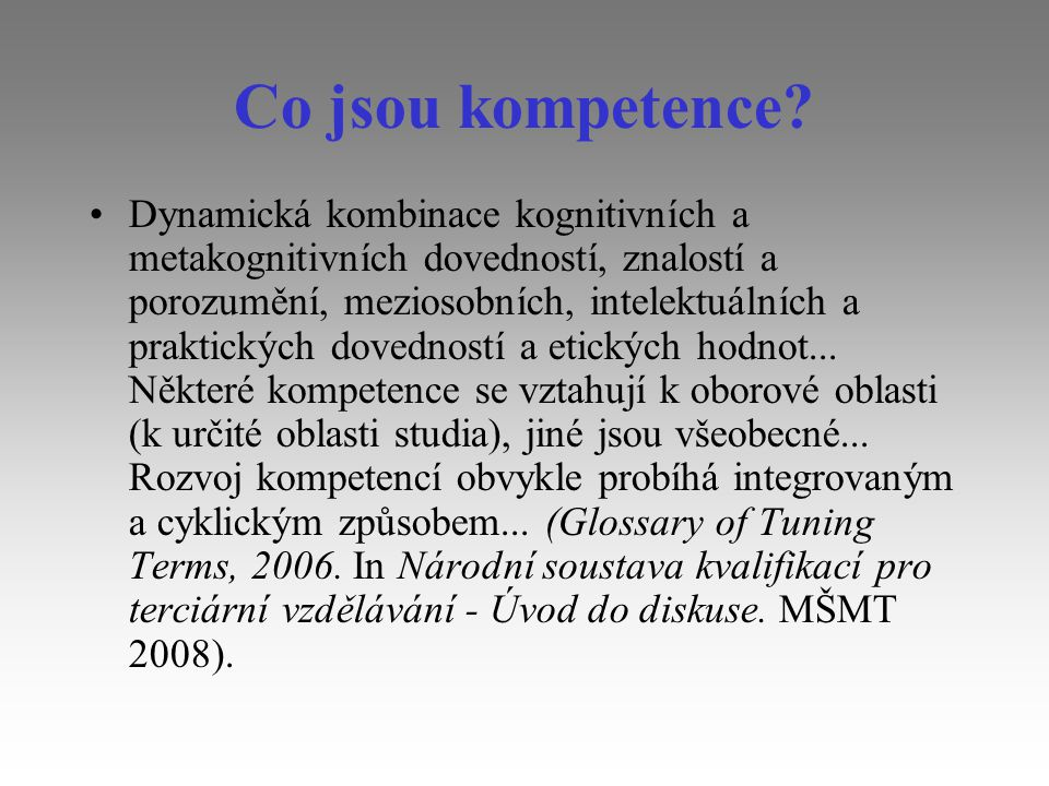 Co jsou kompetence