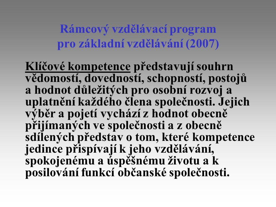 Rámcový vzdělávací program pro základní vzdělávání (2007)