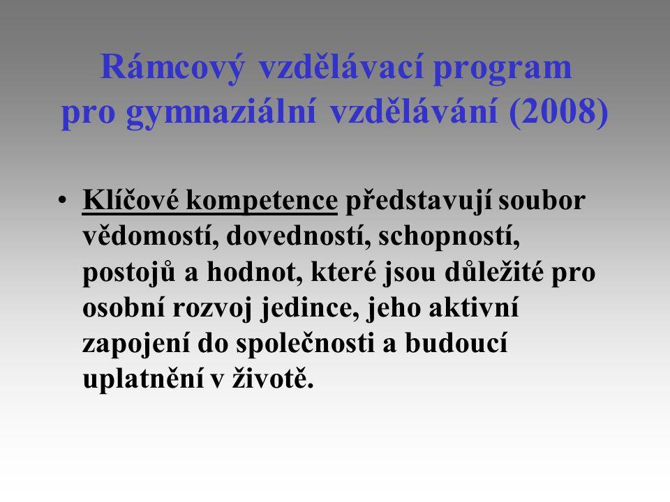 Rámcový vzdělávací program pro gymnaziální vzdělávání (2008)