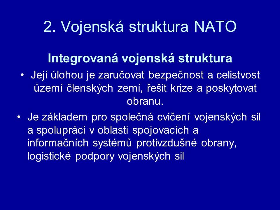 2. Vojenská struktura NATO