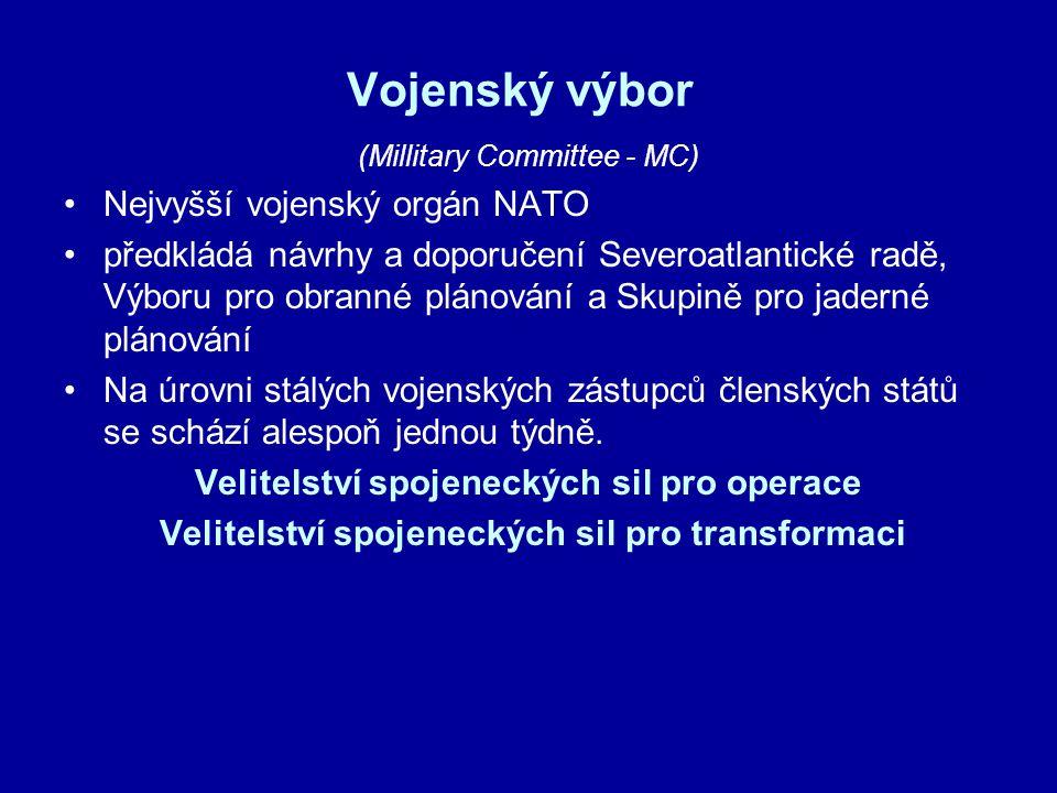 Vojenský výbor Nejvyšší vojenský orgán NATO