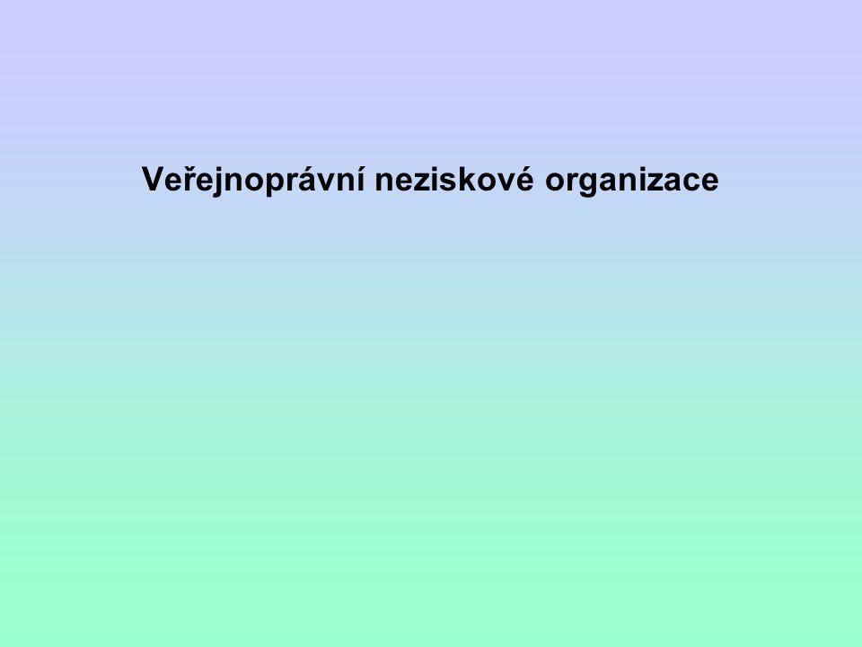 Veřejnoprávní neziskové organizace