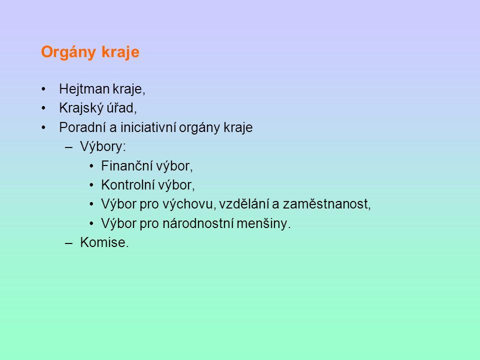Orgány kraje Hejtman kraje, Krajský úřad,