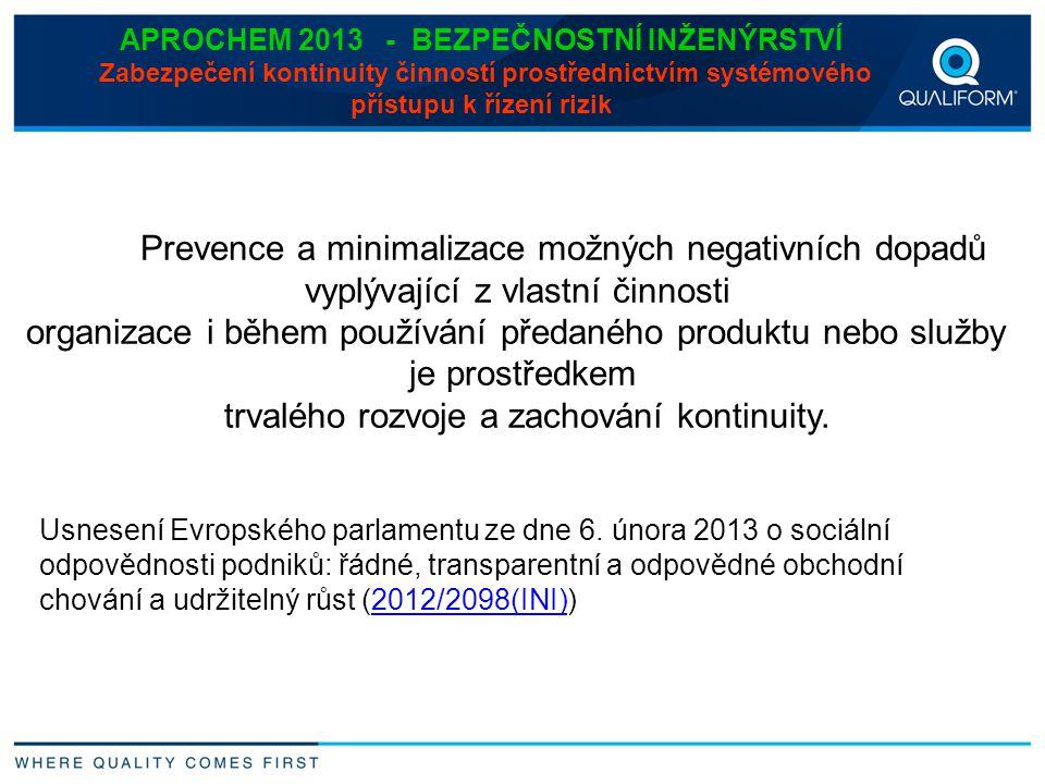 Prevence a minimalizace možných negativních dopadů