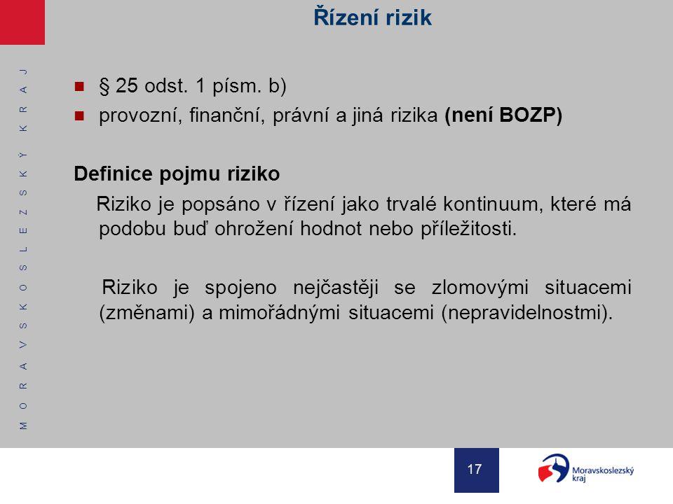 Řízení rizik § 25 odst. 1 písm. b)