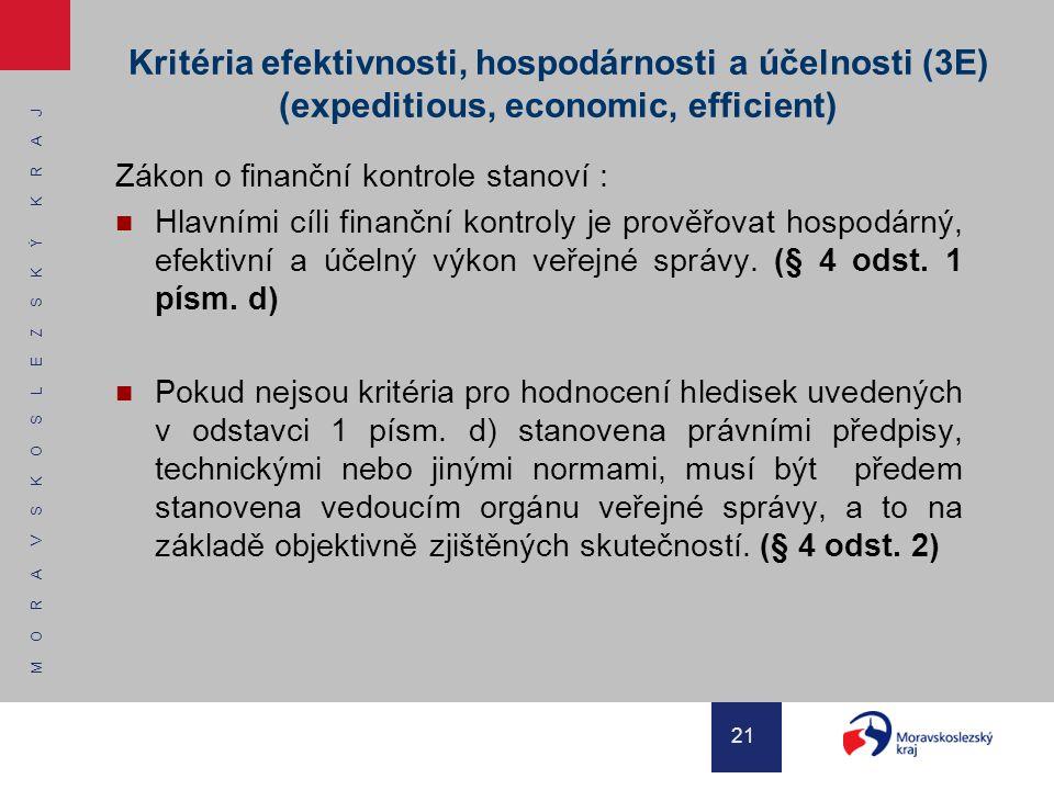 Kritéria efektivnosti, hospodárnosti a účelnosti (3E) (expeditious, economic, efficient)