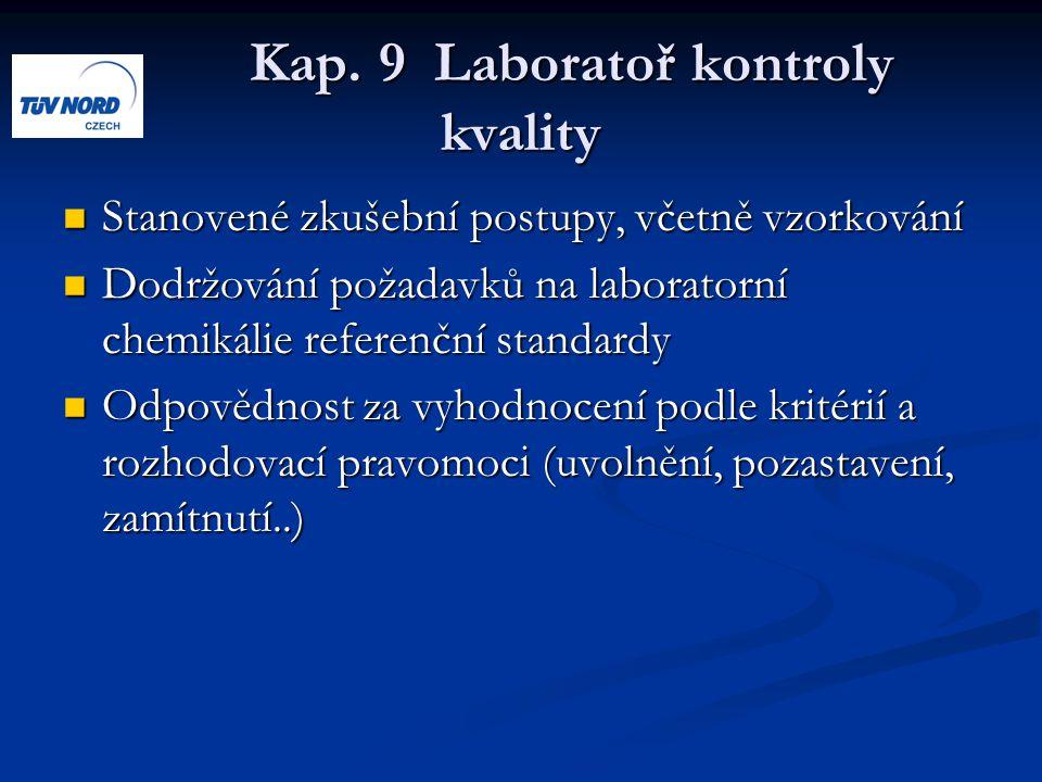 Kap. 9 Laboratoř kontroly kvality