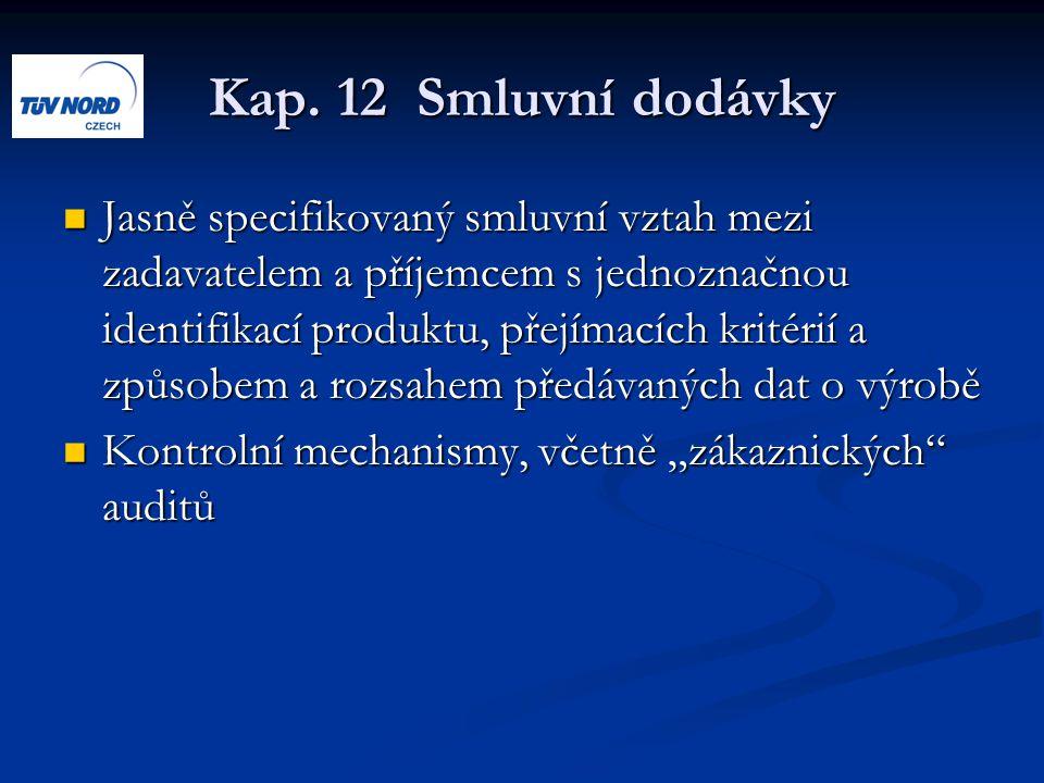 Kap. 12 Smluvní dodávky