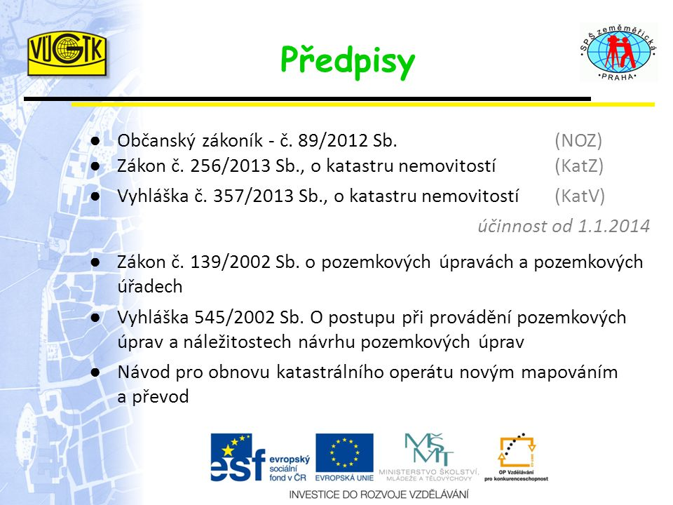 Předpisy Občanský zákoník - č. 89/2012 Sb. (NOZ)