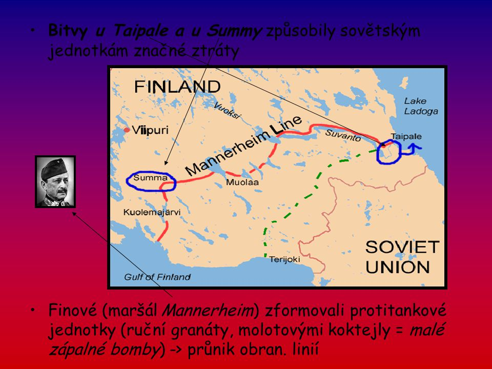 Bitvy u Taipale a u Summy způsobily sovětským jednotkám značné ztráty