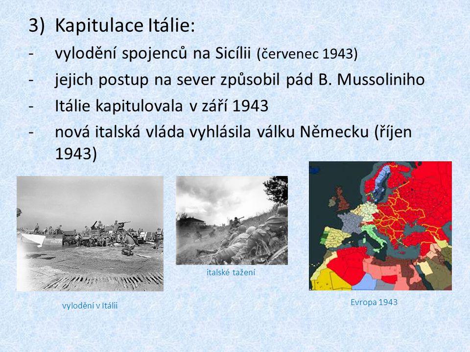 Kapitulace Itálie: vylodění spojenců na Sicílii (červenec 1943)