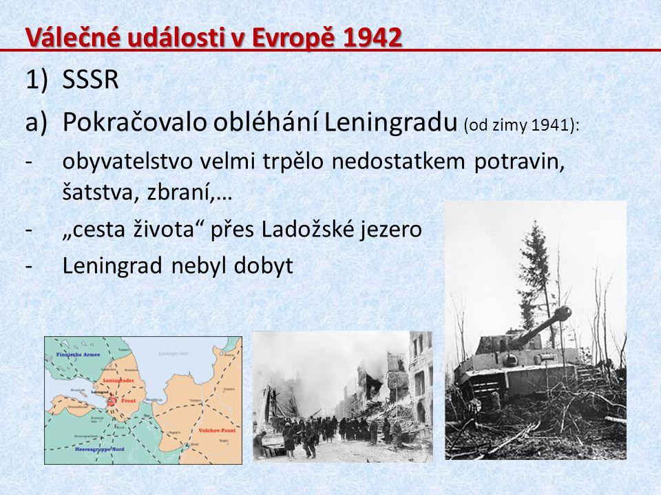 Válečné události v Evropě 1942 SSSR
