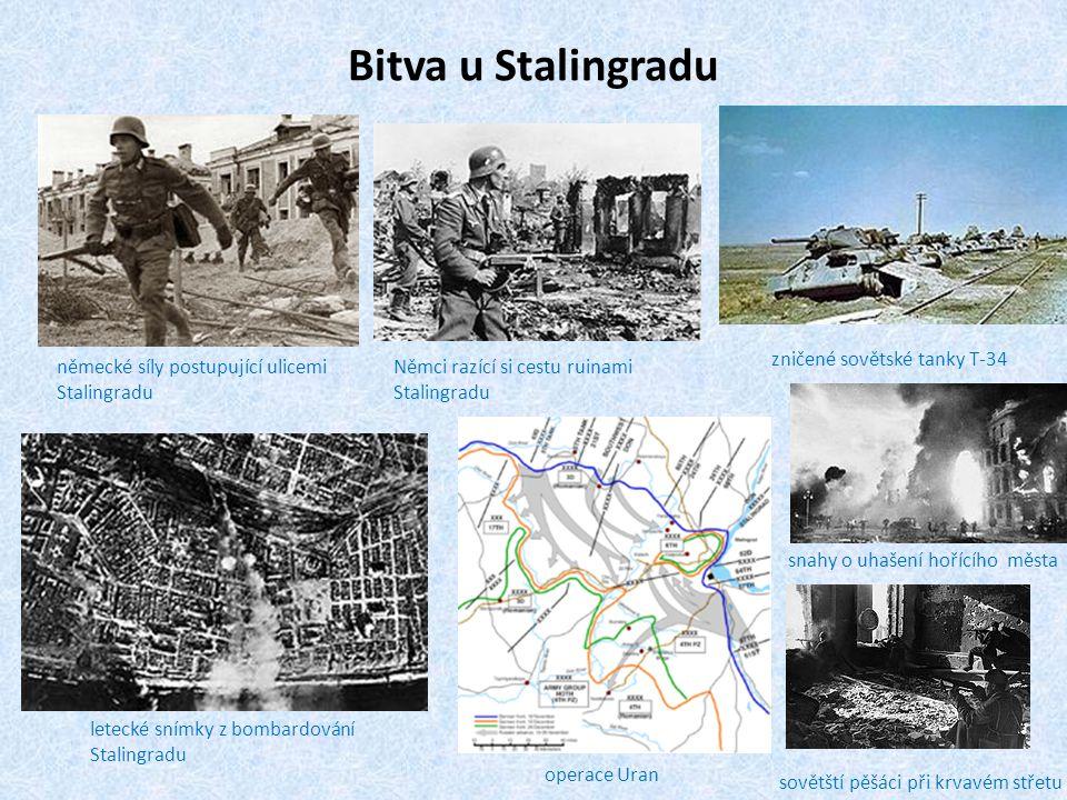 Bitva u Stalingradu zničené sovětské tanky T-34