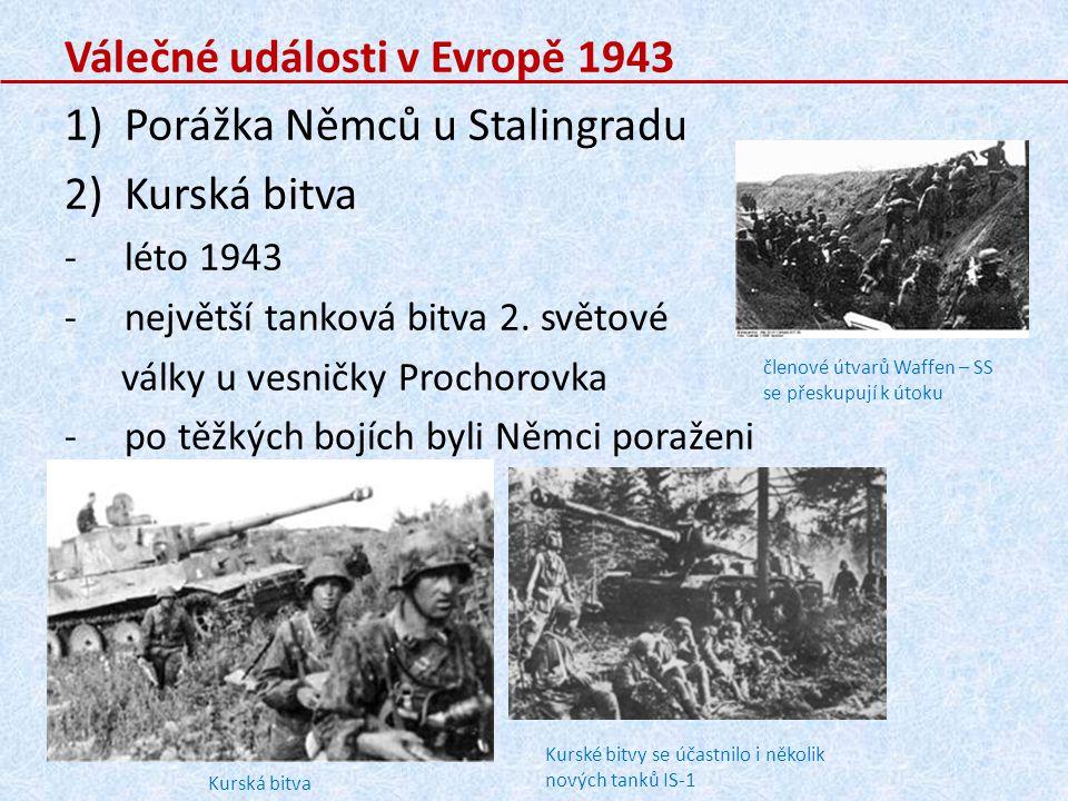Válečné události v Evropě 1943 Porážka Němců u Stalingradu