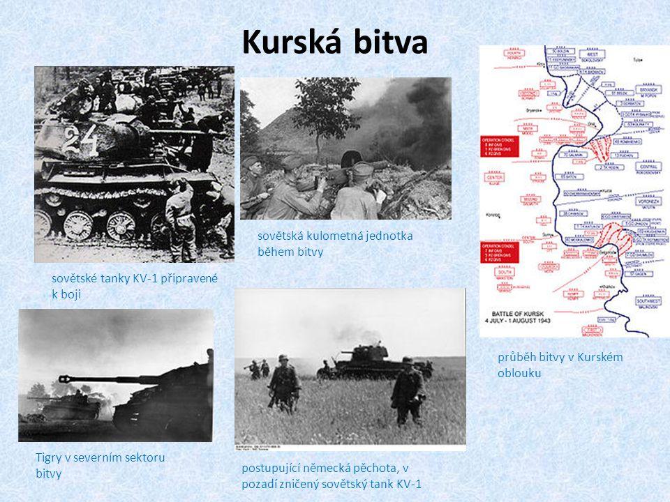 Kurská bitva sovětská kulometná jednotka během bitvy