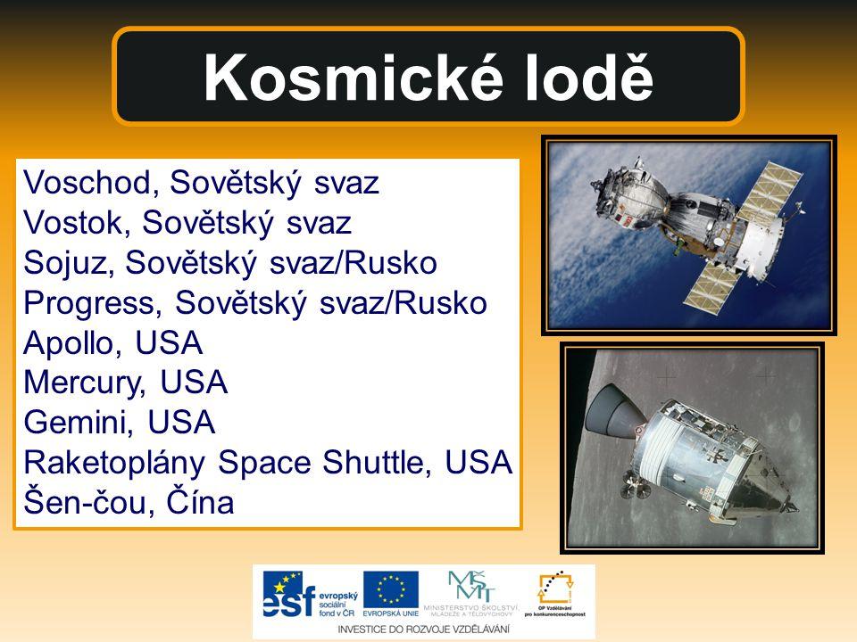 Kosmické lodě Voschod, Sovětský svaz Vostok, Sovětský svaz