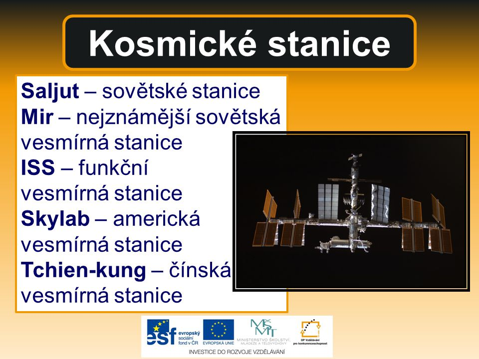 Kosmické stanice Saljut – sovětské stanice