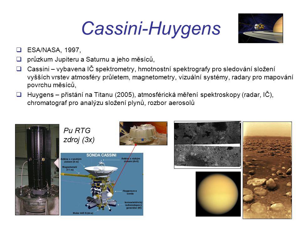 Cassini-Huygens Pu RTG zdroj (3x) ESA/NASA, 1997,