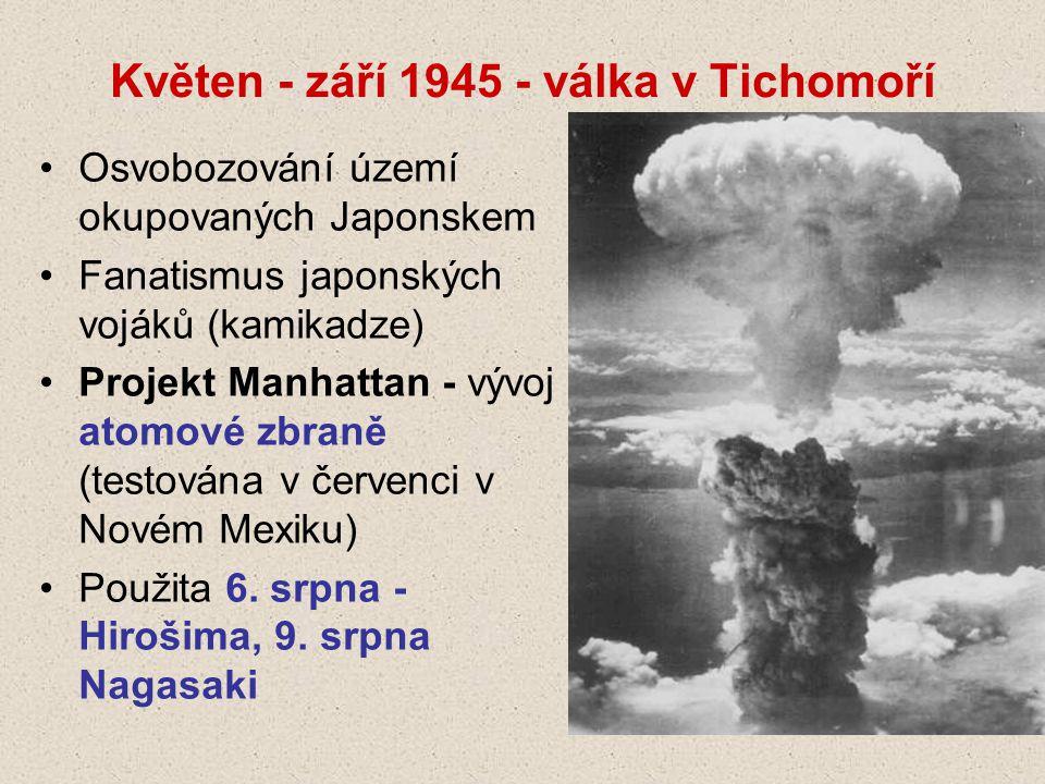Květen - září 1945 - válka v Tichomoří