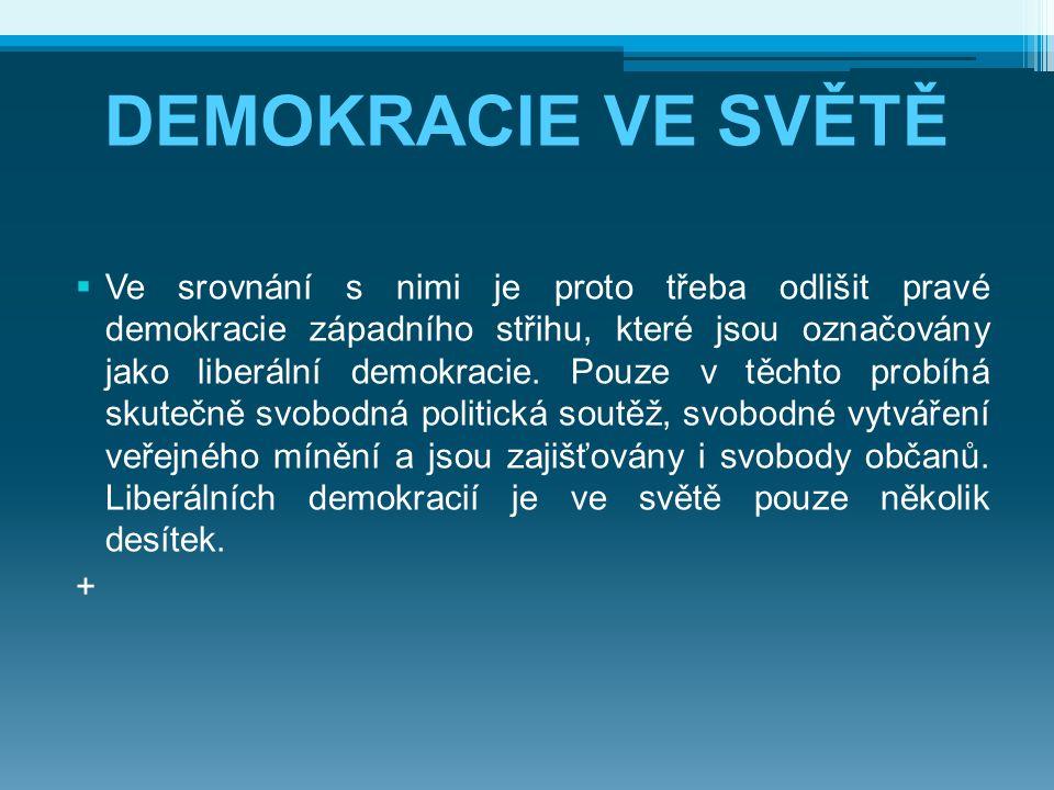 DEMOKRACIE VE SVĚTĚ