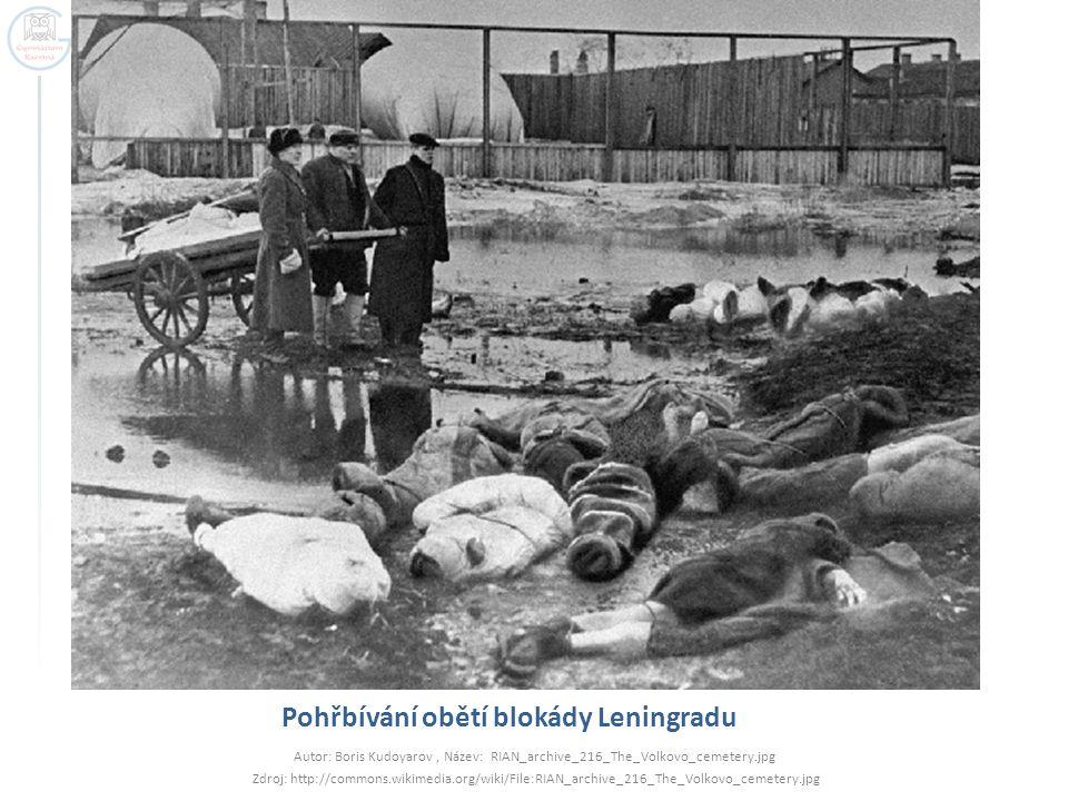 Pohřbívání obětí blokády Leningradu
