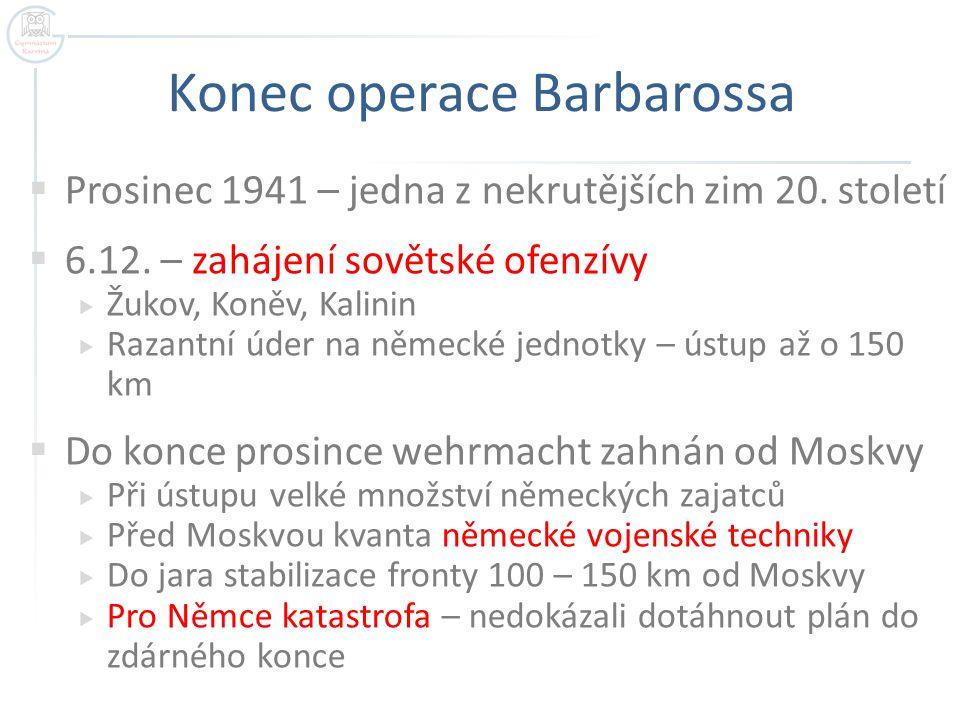 Konec operace Barbarossa