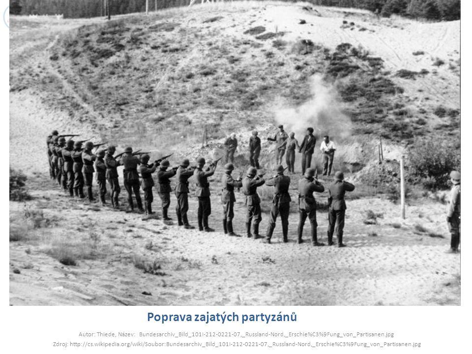 Poprava zajatých partyzánů