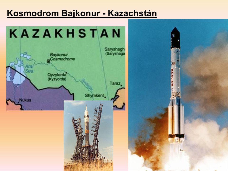 Kosmodrom Bajkonur - Kazachstán