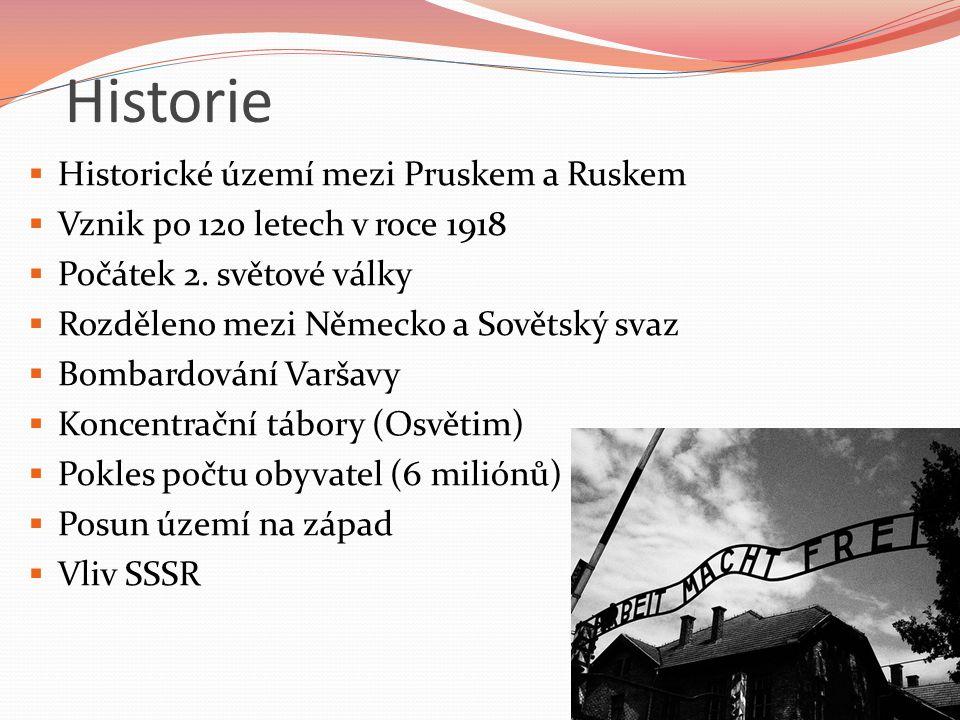 Historie Historické území mezi Pruskem a Ruskem