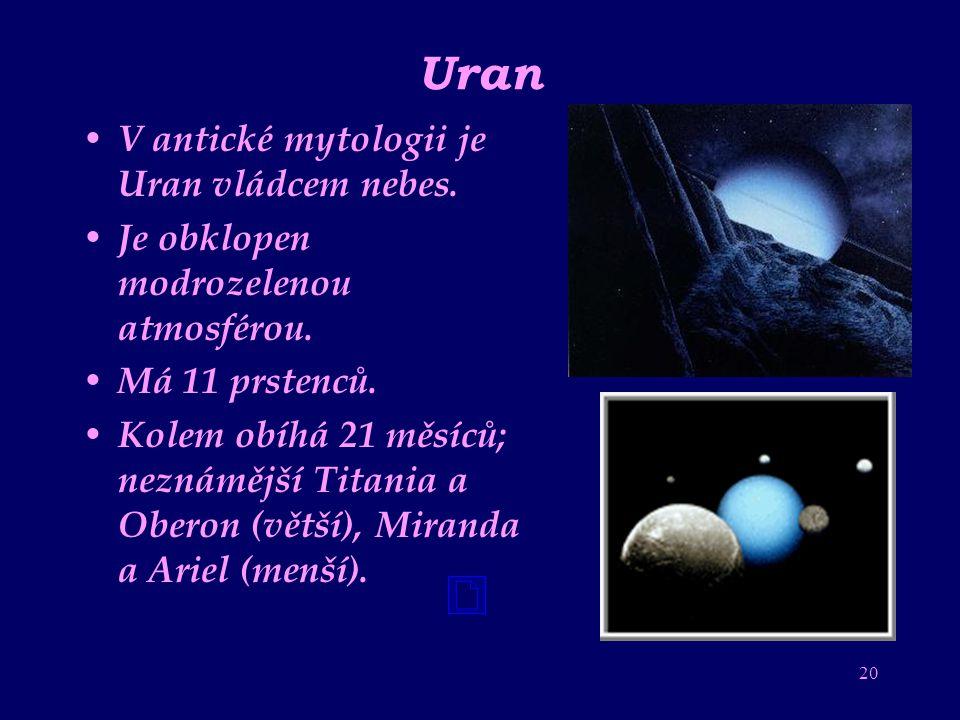 Uran V antické mytologii je Uran vládcem nebes.