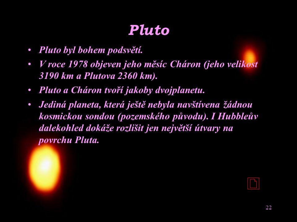 Pluto Pluto byl bohem podsvětí.