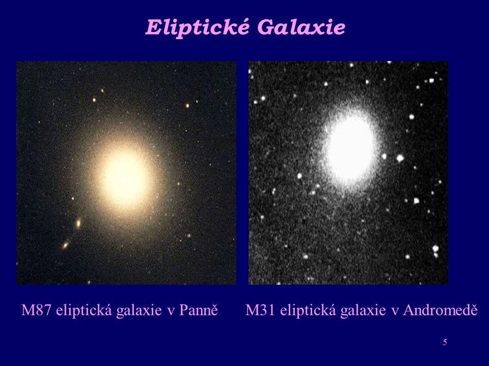Eliptické Galaxie M87 eliptická galaxie v Panně