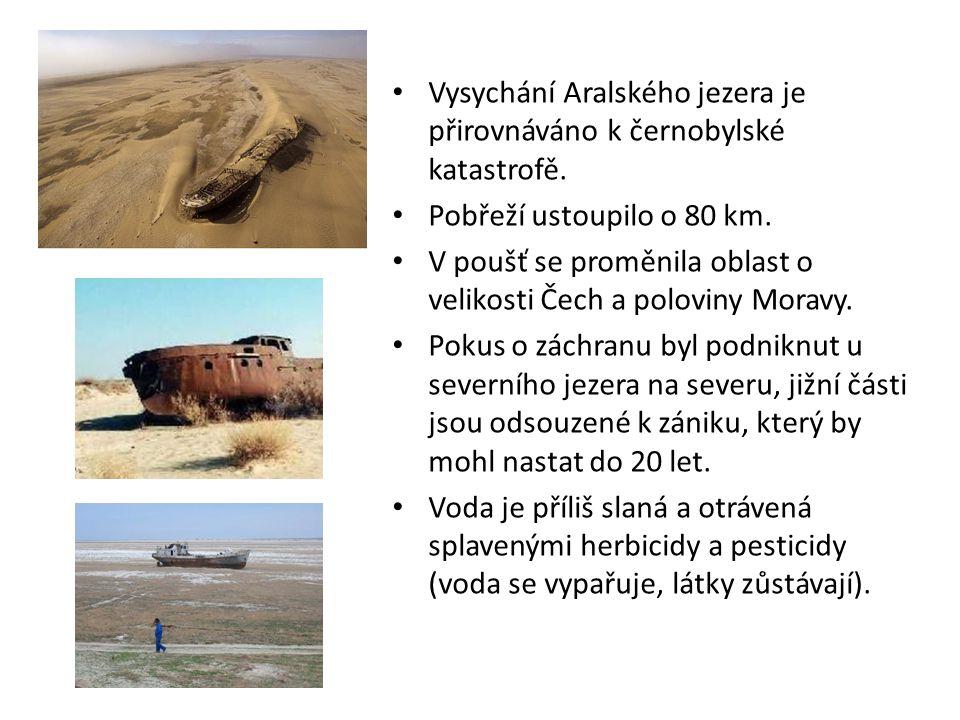 Vysychání Aralského jezera je přirovnáváno k černobylské katastrofě.