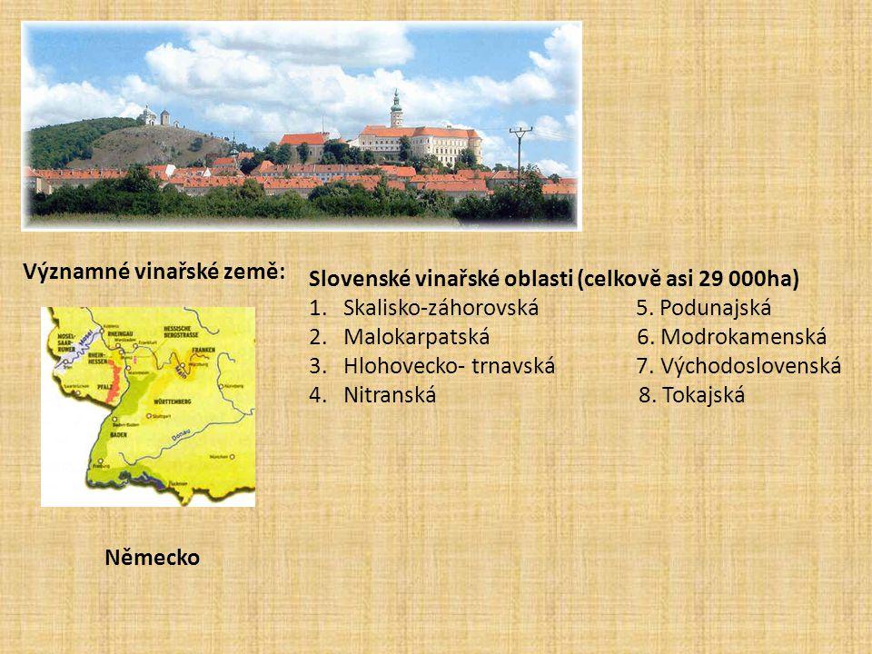 Významné vinařské země: