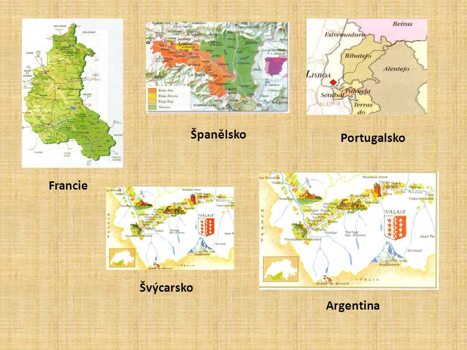 Španělsko Portugalsko Francie Švýcarsko Argentina